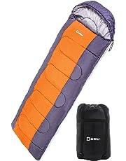 LICLI 寝袋 冬用 コンパクト 軽量 封筒型 シュラフ 1.8kg フード付き 220cm 収納袋付き 8カラー 最低使用温度 -10度