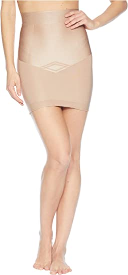 Control Nouveau Mid Waist Skirt Slip with Built-in Thong