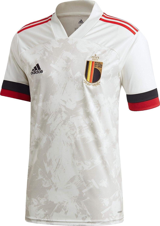 Amazon.com: adidas Belgium Away Football Shirt 2020/21-3XL White ...