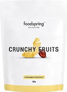 foodspring Crunchy Fruits, Piña-fresa, 60g, La revolución