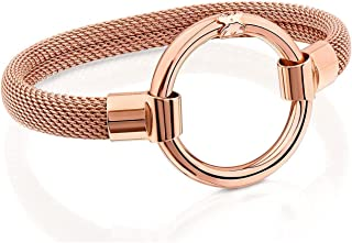 Rose Gold-Plated and Steel Hold Bracelet