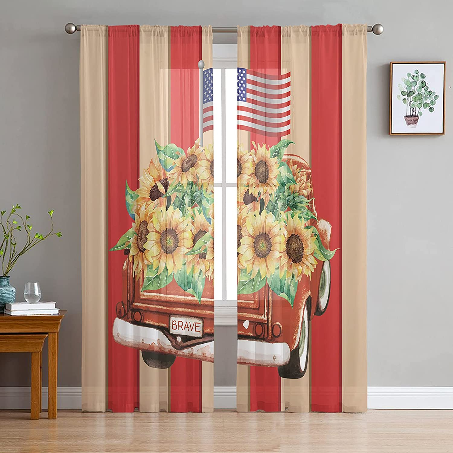 Sheer Voile Chiffon Overseas Jacksonville Mall parallel import regular item Window Curtains Wrinkle Fre Touch Soft with