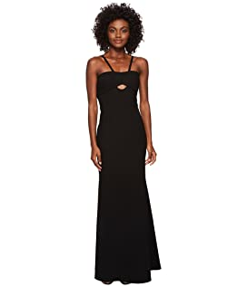 Elastane Gown with Cut Outs