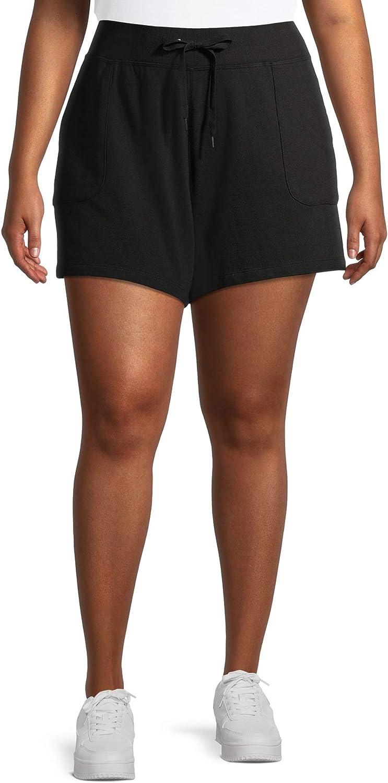 Terra & Sky Women's Plus Size Knit Shorts