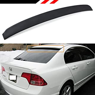 Cuztom Tuning Fits for 2006-2015 Honda Civic LX/EX/SI/Sport 8TH 9TH Gen 4 Door Sedan JDM VIP Rear Window Roof Top Spoiler- Unpainted Black