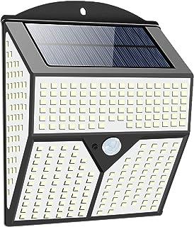 pedkit Lâmpada solar de indução humana externa para pátio Lâmpada de parede à prova d'água IP65 60㎡ Área de iluminação Luz...