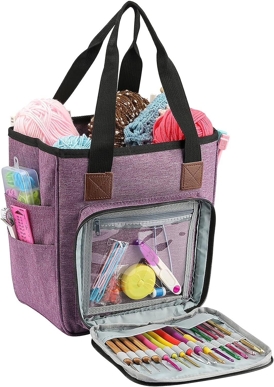 QZLKNIT Ranking TOP12 Yarn 4 years warranty Storage Bag Portable Organizer Tote Travel for