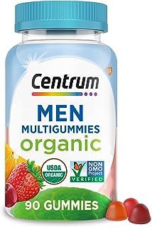 Centrum Men's Organic Multigummies, Men's Multivitamin Gummies, Organic Multivitamin for Men with Essential Nutrients for ...