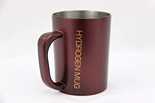 Hydrogen Ionizing Mug. Strong Negative ORP Charge (-150 to -500 mV), PH Balance (7.5-9.0), Removes Chlorine and Heavy Metals, Makes Hot and Cold Drinks Healthy. Water Alkalizer. Portable. 16 Fl Oz