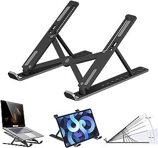Laptop Stand, Adjustable Notebook Computer Stands Holder, 10 Level Adjustment Foldable Portable Tablet PC Desk Riser Mount...