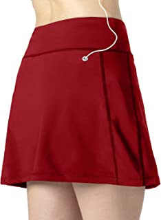 CongYee Women Tennis Skirts Inner Shorts Elastic Sports Golf Skorts with Pockets Athletic Skorts Lightweight Skirts Running