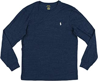 Polo Ralph Lauren Mens Long Sleeve Crew Neck Custom Slim Fit T-Shirt
