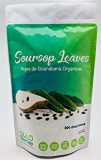 Organic Soursop Graviola Dried Leaves for Tea | 200 Leaves | Hojas De Guanabana Orgánica De Perú | 200 Hojas | Product From Peru | Packaged In The USA (200 Leaves)