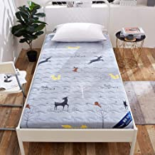 Japanese Floor Futon Mattress, Tatami Floor Mat,Portable Camping Mattress,Roll Up Kids Sleeping Pad,Couch Bed with Mattres...