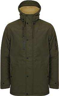 Tokyo Laundry Mens Hoodie Parka Jacket/Coat Patogonia' Sherpa Lined Hood