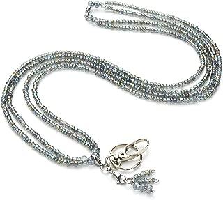 LUXIANDA Moonstone Women's Practical Lanyard for Nurse,Teacher and OL,for Keys, Badge Holder,Women's Chain ID Badge Holder Necklace