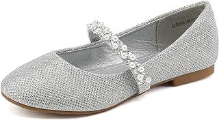 DREAM PAIRS Girls Toddler/Little Kid/Big Kid Serena-100 Mary Jane Ballerina Flat Shoes