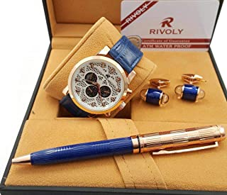 Rivoli Dress Watch For Men Analog Leather - 253