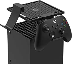 Dust Cover for Xbox Series X Console with 2 Controller/Headset Mount, Dust Mesh Cooler Filter Cover Gaming Controller Moun...