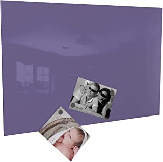 Colours-Manufaktur Pizarra magnética con imanes, en 4 tamaños diferentes y 18 (lila/lila, 50 x 80 cm)