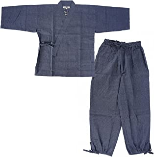 Men's Japan quilted clothes Stitched weave Sasiko Samue