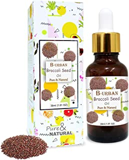 B-URBAN Broccoli Seed Oil 100% Natural Pure Undiluted Uncut Carrier Oil 30ml