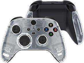 eXtremeRate — Capa transparente de alças de substituição para controle da série Xbox X, painéis laterais personalizados de...