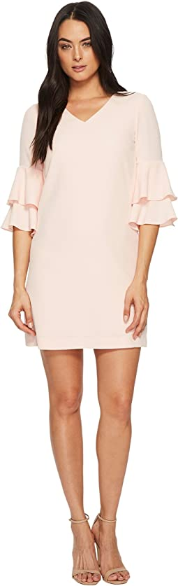 Tahari by ASL Flounce Sleeve Shift Dress