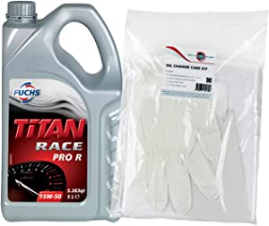Fuchs Titan Race Pro 15W50 Fully Synthetic Engine Oil Litres  amp  Powerenhancer Oil Change Care Kit