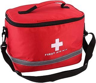 DeeploveUU 赤いナイロンストライククロスシンボル高密度リップストップスポーツキャンプホーム医療緊急サバイバル応急処置キットバッグアウトドア