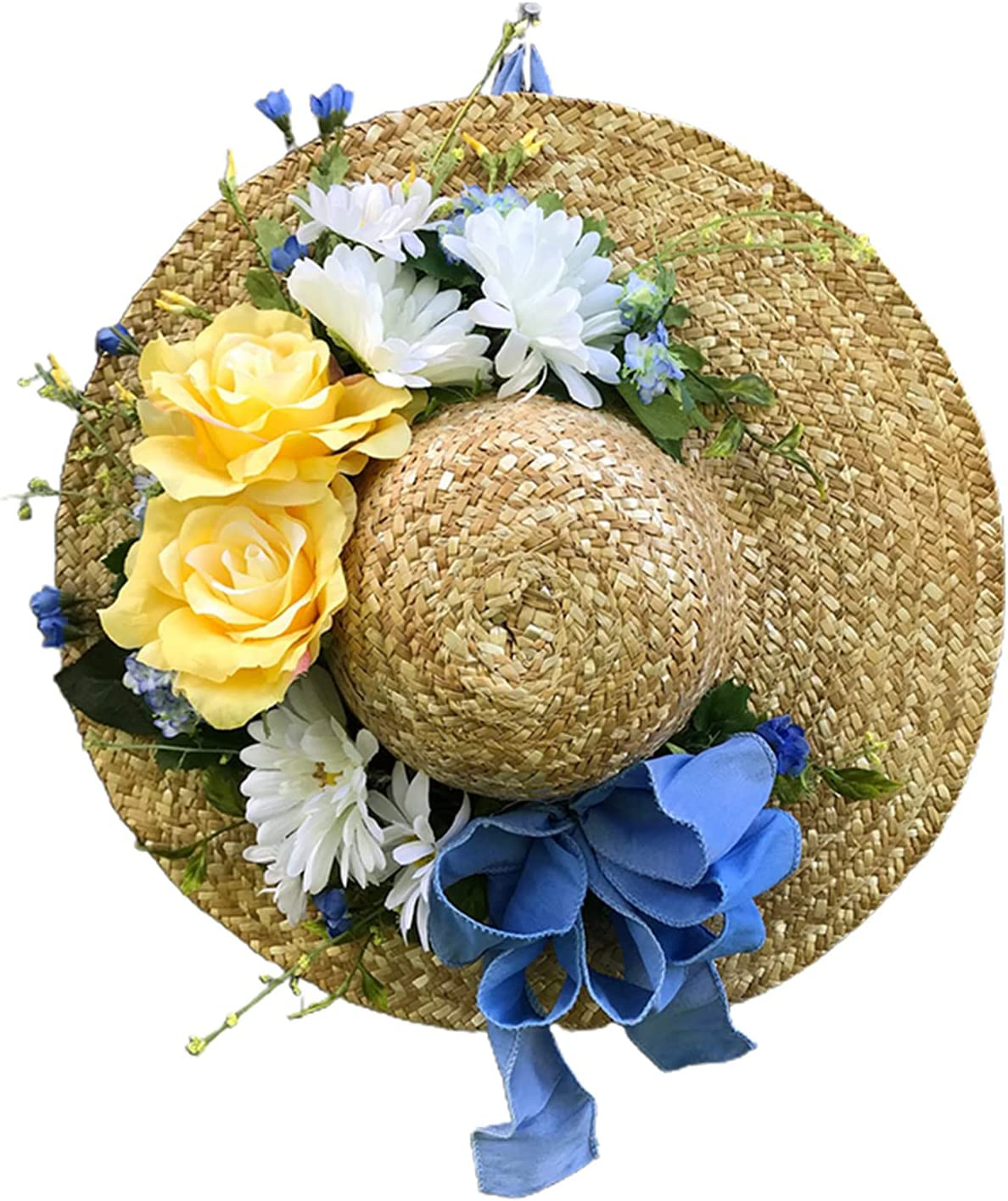 Xiaosong - Straw Hat San Jose Mall Wreath Front Artificial Special price Flower Hanging Door
