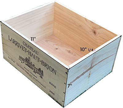 6 BOTTLE SIZE FRENCH WOODEN WINE CRATE BOX HAMPER STORAGE.. MARKED SECONDS