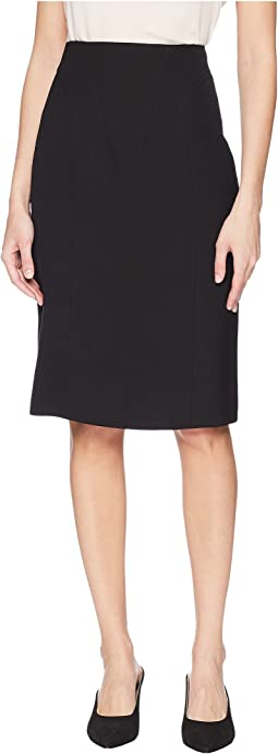 Poly Crepe Ohara High-Waisted Corset Pencil Skirt