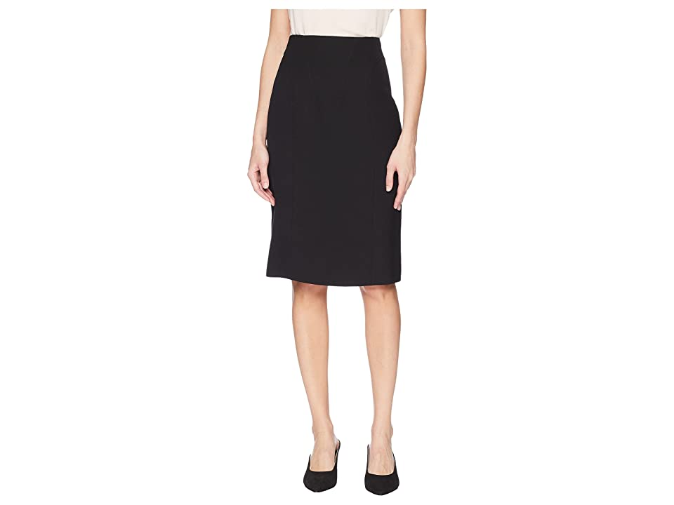 Prabal Gurung Poly Crepe Ohara High-Waisted Corset Pencil Skirt (Black) Women's Skirt