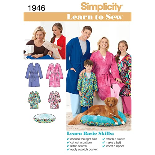 Simplicity Teens and Adults Robe Sewing Pattern 1946 Learn To Sew Childs 6e2e4aabf