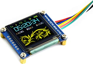 Waveshare 1.5inch RGB OLED Display Module 128x128 Pixels 16-bit High Color (65K Colors) with Embedded Controller Communicating via SPI Interface.