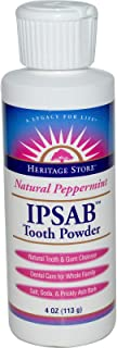 Heritage Products IPSAB Toothpowder Peppermint - 4 oz