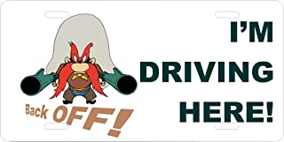 Gatsbe Exchange License Plate Yosemite Sam Back Off I'm Driving Here Car Accessories