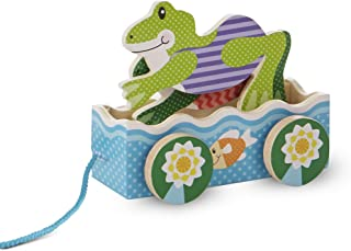 Melissa & Doug 3615 First Play Friendly Frogs Wooden Pull Toy, Multicolor