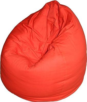 Kinzler S-10008/32 Sitzsack Billy, ca. Ø75 x H95 cm, klassische Tropfenform, Indoor, in vielen verschiedenen Farben, robuster Jeansstoff, rot