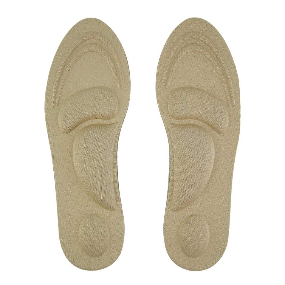 古くなった歴史的逆さまに女性の足のケアマッサージハイヒールスポンジ3D靴のインソールクッションパッドDIYカッティングスポーツアーチサポート義足