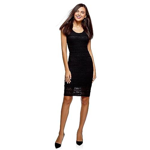 oodji Ultra Mujer Vestido de Encaje Ajustado