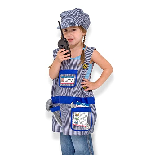 2e9418d4d6 Melissa   Doug Train Engineer Role Play Costume Dress-Up Set (7 ...
