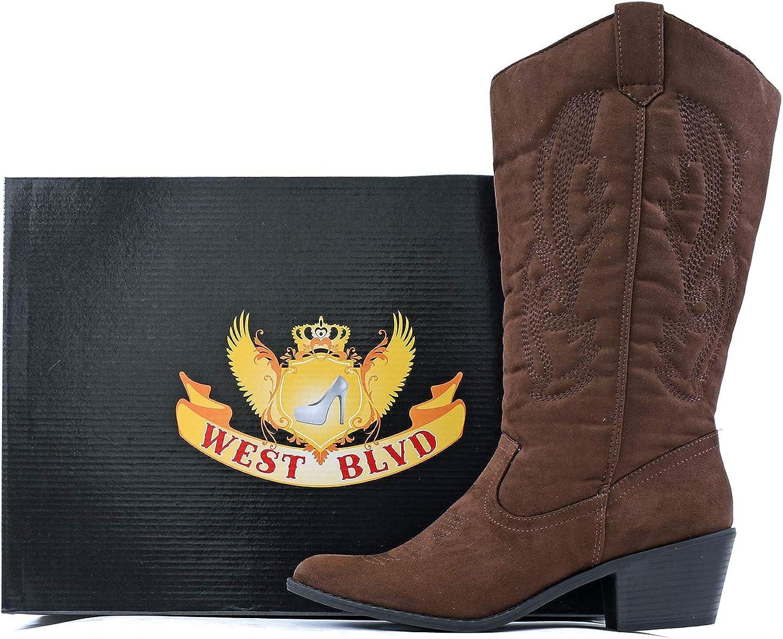 Womens Miami Cowboy Western Boots West Blvd