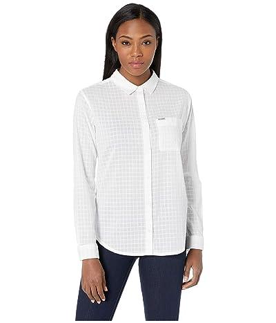 Columbia PFG Sun Driftertm II Long Sleeve Shirt (White Windowpane) Women