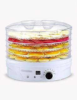 Déshydrateur Alimentaire, Contrôle de la Température 35-70 ° C, 1 à 24 Heures, avec 5 Plateaux, Faible Consommation D'éner...