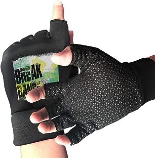 HangWang Street Dance Boy Motorcycle Gloves Shockproof Half Outdoor Sports Exercise Short Glove for Men Women