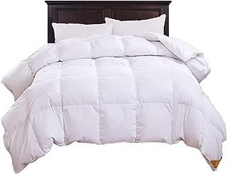 puredown All Season Luxury White Down Comforter Down Fiber Duvet Insert 100% Cotton Shell Down Proof,Baffle Box Stitched Twin/Twin XL Size