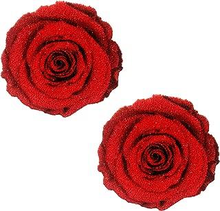 Freaking Awesome Roses Are Red Glitter Velvet Nipztix Pasties Nipple Cover