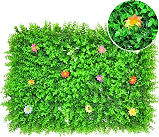 XEWNEG Artificial Boxwood Hedge Panel, For Courtyard Home Decor Indoor And Outdoor Privacy Shielding Fence, UV Protection ...
